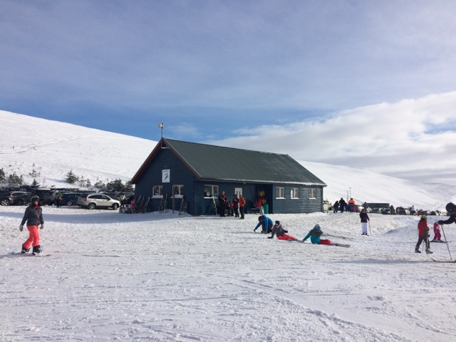 The Lecht Skiing centre in the sunshine