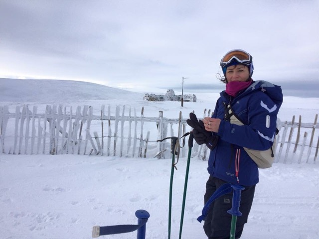 Me at the Lecht skiing