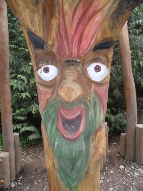 Scary tree carvings