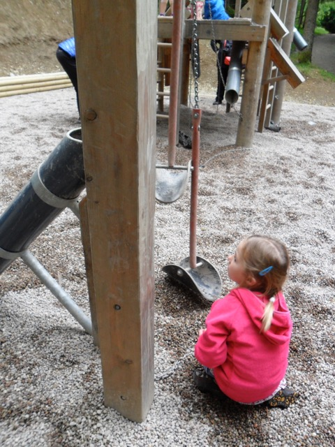 Children's adventure playground at Whinlatter Forest
