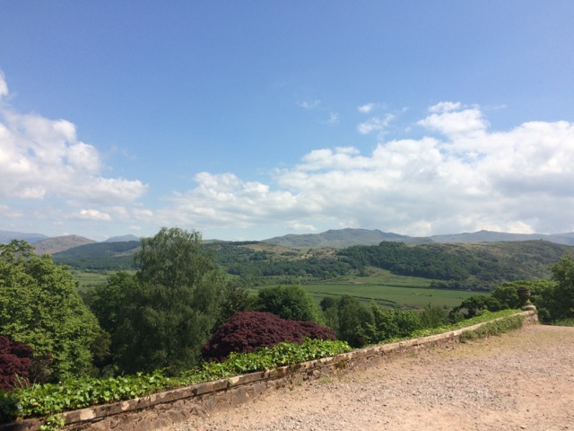 The view from Muncaster Castle grounds.